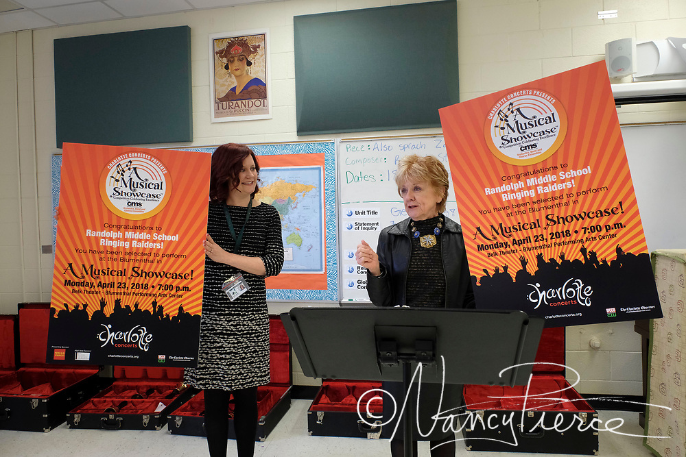Randolph Middle School Conductor Julia Lathan