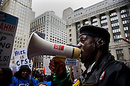 "Bobby ""Bother Westside"" Scott leads a chant during a rally on March 27, 2013 protesting the closing of 54 Chicago public schools. Hundreds of teachers, school employees, parents, students and community members came out to the protest the schools closings which are expected to effect more than 30,000 students in the Chicago Public School system."