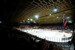 Arena during ice-hockey match between HK Acroni Jesenice and HDD Tilia Olimpija in fourth game of Final at Slovenian National League, on April 8, 2011 at Arena Podmezakla, Jesenice, Slovenia. (Photo by Vid Ponikvar / Sportida)