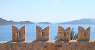 View of the Bay of Kekova from the<br /> Fortress of Kalekoy  south coast Turkey<br /> c. Ellen Rooney