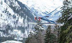 02.02.2019, Heini Klopfer Skiflugschanze, Oberstdorf, GER, FIS Weltcup Skiflug, Oberstdorf, Training, im Bild Karl Geiger (GER) // Karl Geiger of Germany during his Practice Jump of FIS Ski Jumping World Cup at the Heini Klopfer Skiflugschanze in Oberstdorf, Germany on 2019/02/02. EXPA Pictures © 2019, PhotoCredit: EXPA/ Peter Rinderer