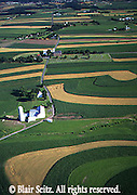 Southcentral Pennsylvania, Aerial Photographs Farmlands, Mixed Cultivation and Contour Farming, Cumberland Co., PA