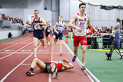 ECAC/IC4A Track and Field Indoor Championships<br /> 1000 meters, Stony Brook, Luke Coulter (on ground)