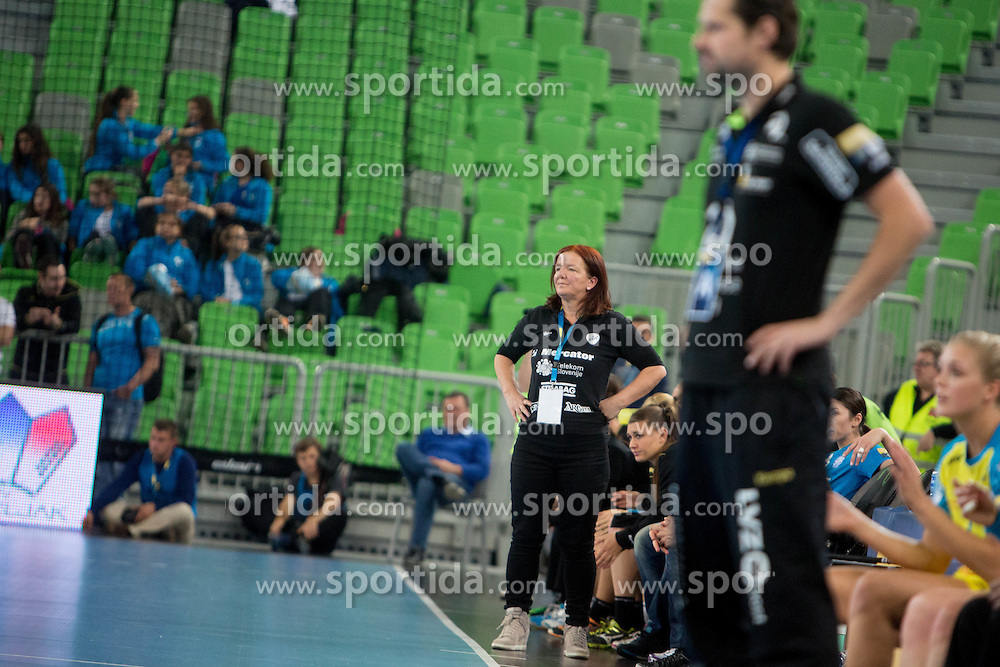 Marta Bon, head coach of RK Krim Mercator during handball match between RK Krim Mercator (SLO) and HC Leipzig (GER) in 6th Round of Women's EHF Champions League 2014/15, on November 21, 2014 in Arena Stozice, Ljubljana, Slovenia. Photo by Urban Urbanc / Sportida