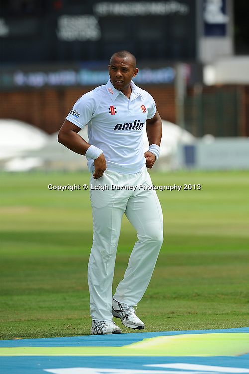 Tymal Mills of Essex during England v Essex first day of a four day Ashes warm up game at the Essex County Cricket Ground, 30.06.13.  Credit: © Leigh Dawney Photography. Self Billing where applicable. Tel: 07812 790920Tymal Mills of Essex on the first of a four day Ashes warm up game against Essex at the Essex County Cricket Ground, 30.06.13.  Credit: © Leigh Dawney Photography. Self Billing where applicable. Tel: 07812 790920