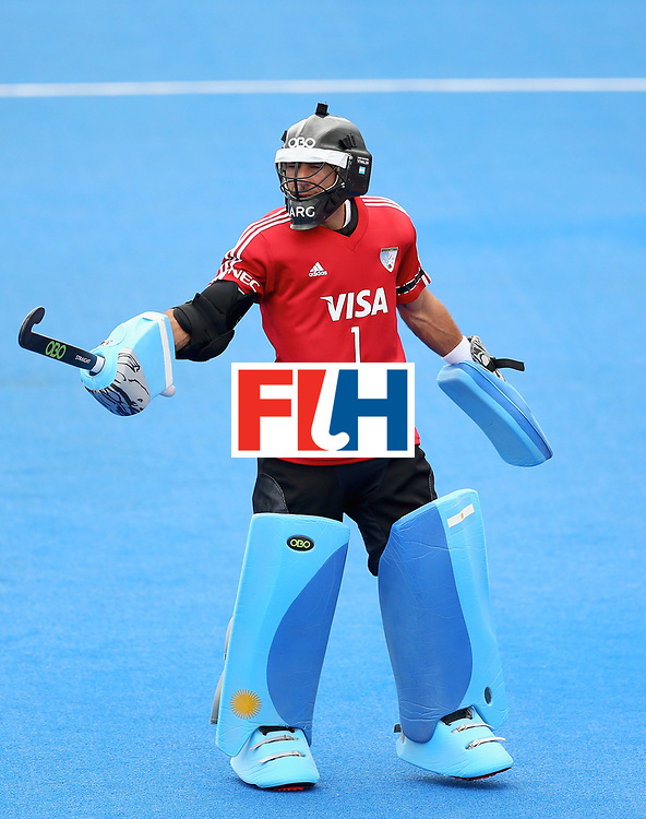 LONDON, ENGLAND - JUNE 24:  Juan Vivaldi of Argentina in action during the semi-final match between Argentina and Malaysia on day eight of the Hero Hockey World League Semi-Final at Lee Valley Hockey and Tennis Centre on June 24, 2017 in London, England.  (Photo by Steve Bardens/Getty Images)