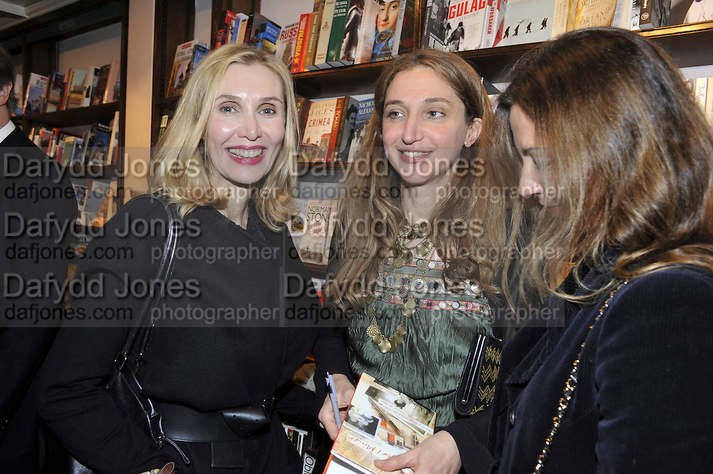 ALLEGRA HICKS; ALBA ARIKHA, Book launch for Major/Minor by Alba Arikha. A  memoir about her adolescence in Paris published by Quartet Books. Daunts. London. 8 November 2011<br /> <br />  , -DO NOT ARCHIVE-© Copyright Photograph by Dafydd Jones. 248 Clapham Rd. London SW9 0PZ. Tel 0207 820 0771. www.dafjones.com.