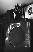 Duke Vin, the very well liked sound system disc jockey. Notting Hill.
