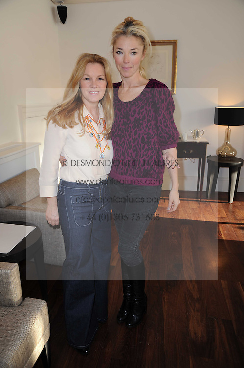 Left to right, AMANDA KYME and TAMARA BECKWITH  at a breakfast hosted by Bobbi Brown - the cosmetics company held at Morton's, 28 Berkeley Square, London on 8th December 2009.