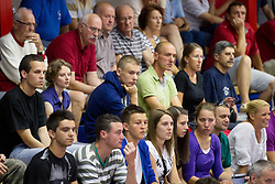 Fans during basketball match between National teams of Sweden and Slovenia in First Round of U20 Men European Championship Slovenia 2012, on July 13, 2012 in Domzale, Slovenia. (Photo by Vid Ponikvar / Sportida.com)