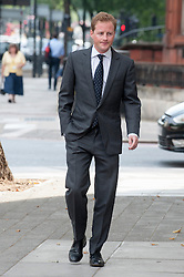 Image ©Licensed to i-Images Picture Agency. 25/07/2014. London, United Kingdom. Guy Pelly friend to the Royal Prince's Harry and William arriving at Westminster magistrates court. Picture by i-Images