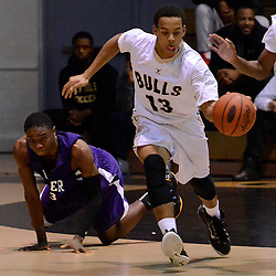 TOM KELLY IV &mdash; DAILY TIMES<br /> Glen Mills Steven Welsh (13) steals the ball during the Upper Darby at Glen Mills boys basketball game.