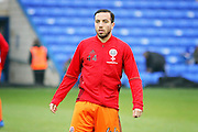 Sheffield United debutant, midfielder Samir Caruthers (44) warming up  before his first start for the club in the EFL Sky Bet League 1 match between Peterborough United and Sheffield Utd at London Road, Peterborough, England on 11 February 2017. Photo by Nigel Cole.