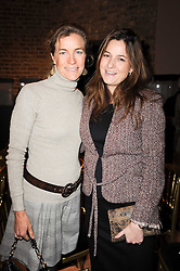 Left to right, ARIANE SODI and BIANCA PITT at a lecture in aid of The Lavender Trust hosted by Asprey, Bond Street, London on 27th January 2010.