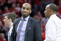 20 March 2017:  Jamill Jones and Johnny Dawkins during a College NIT (National Invitational Tournament) 2nd round mens basketball game between the UCF (University of Central Florida) Knights and Illinois State Redbirds in  Redbird Arena, Normal IL