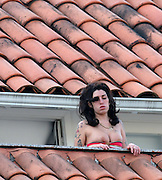 Jan. 6, 2011 - <br /> <br />  Amy Winehouse is looking healthier than ever as she prepares to showcase new material in Brazil <br /> <br /> It's been five years since fans of Amy Winehouse had a chance to hear any new material from the singer.<br /> But now she has put her past troubles behind her and is preparing for a musical comeback, showcasing some previously unheard songs at a series of gigs in South America.<br /> And the 27-year-old singer was looking even healthier than ever as she hung out at her hotel in the Brazilian city of Rio De Janeiro ahead of her tour there.<br /> And she appeared relaxed, hanging out on the rooftop of the hotel with one of her bodyguards - and at one point waved from the veranda.<br /> Dressed in a pink bikini top and her ever-popular denim shorts, a barefoot Amy later hit the pool for a dip, once again surrounded by a security team.<br /> Despite all her recent jet-setting - which also saw her play a show in for a mystery Russian businessman in Moscow - Amy celebrated the start of 2011 in London.<br /> <br /> Although she was reportedly supposed to go to her dad Mitch's gig at London's Pigalle Club on New Year's Eve, The Sun claims that the singer instead spent time with her on-off boyfriend Reg Traviss.<br /> Reports suggest that she has recently rekindled her romance with the film director.<br /> The pair began dating in May 2010 but split four months later after he was seen holding hands with his ex-girlfriend, burlesque dancer Raven Isis.<br /> <br /> <br /> Amy is due to play her first show in Brazil on Saturday. Her recent Russian gig - for which she was paid £1m- was the first full show she had performed since 2008.<br /> She hit the headlines then as a result of her turbulent private life which has seen her battle drink and drug problems and a failed marriage.<br /> She appeared on Strictly Come Dancing last year as a backing vocalist to her 13-year-old goddaughter Dionne Bromfield, and performed four songs at a low-key e