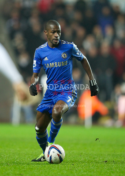 SWANSEA, WALES - Wednesday, January 23, 2013: Chelsea's Ramires in action against Swansea City during the Football League Cup Semi-Final 2nd Leg match at the Liberty Stadium. (Pic by David Rawcliffe/Propaganda)