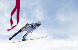04.01.2015, Bergisel Schanze, Innsbruck, AUT, FIS Ski Sprung Weltcup, 63. Vierschanzentournee, Innsbruck, 1. Wertungssprung, im Bild Manuel Poppinger (AUT) // Manuel Poppinger of Austria soars trought the air during his first competition jump for the 63rd Four Hills Tournament of FIS Ski Jumping World Cup at the Bergisel Schanze in Innsbruck, Austria on 2015/01/04. EXPA Pictures © 2015, PhotoCredit: EXPA/ JFK