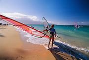 Windsurfing, Kanaha Beach park, Kahalui, Maui, Hawaii