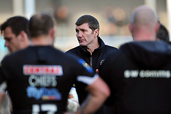Exeter Chiefs Head Coach Rob Baxter looks on after the match - Photo mandatory by-line: Patrick Khachfe/JMP - Mobile: 07966 386802 07/03/2015 - SPORT - RUGBY UNION - Exeter - Sandy Park - Exeter Chiefs v London Welsh - Aviva Premiership
