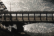 France. paris. 7th district.  , Paris cityscape and the Seine river bridges / Paris vue d'en haut la Seine dans le 16em ardt
