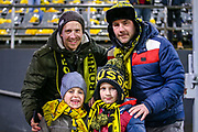 Borussia Dortmund fans ahead of the Champions League round of 16, leg 2 of 2 match between Borussia Dortmund and Tottenham Hotspur at Signal Iduna Park, Dortmund, Germany on 5 March 2019.