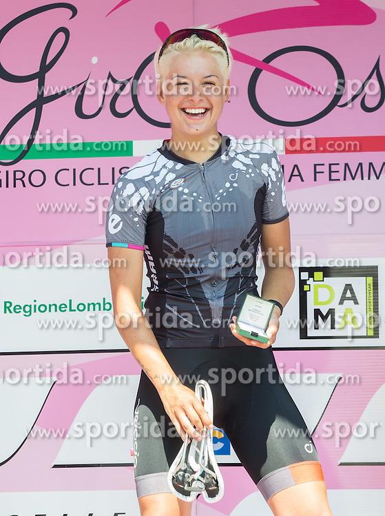 Winner Barbara Guarischi (ITA) of Velocio - SRAM team  during flower ceremony after the Stage 1 (102,5 km) from Kamnik to Ljubljana at 26th Giro Rosa 2015 Women cycling race, on July 4, 2015 in BTC City, Ljubljana,  Slovenia. Photo by Vid Ponikvar / Sportida
