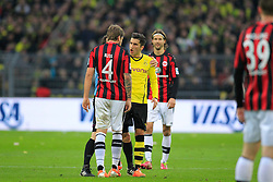 15.02.2014, Signal Iduna Park, Dortmund, GER, 1. FBL, Borussia Dortmund vs Eintracht Frankfurt, 21. Runde, im Bild Nuri Sahin (Borussia Dortmund #18) schreit Marco Russ (Eintracht Frankfurt #4) an // during the German Bundesliga 21th round match between Borussia Dortmund and Eintracht Frankfurt at the Signal Iduna Park in Dortmund, Germany on 2014/02/15. EXPA Pictures © 2014, PhotoCredit: EXPA/ Eibner-Pressefoto/ Schueler<br /> <br /> *****ATTENTION - OUT of GER*****