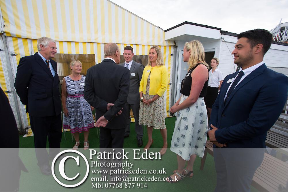 Duke of Edinburgh, Prince Philip, Visits, Island Sailing Club, Cowes Week, Cowes, Isle of Wight, England, UK, 2016,