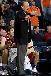 Elon head coach Ernie Nester.  The Virginia Cavaliers men's basketball team defeated the Elon Phoenix 91-61  at the John Paul Jones Arena in Charlottesville, VA on December 22, 2007.