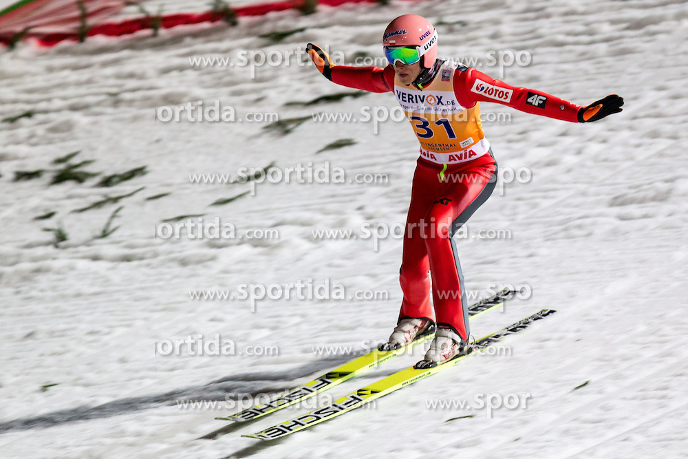 21.11.2014, Vogtland Arena, Klingenthal, GER, FIS Weltcup Ski Sprung, Klingenthal, Herren, HS 140, Qualifikation, im Bild DAWID KUBACKI // during the mens HS 140 qualification of FIS Ski jumping World Cup at the Vogtland Arena in Klingenthal, Germany on 2014/11/21. EXPA Pictures &copy; 2014, PhotoCredit: EXPA/ Newspix/ Katarzyna Plewczynska<br /> <br /> *****ATTENTION - for AUT, SLO, CRO, SRB, BIH, MAZ, TUR, SUI, SWE only*****