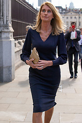 © Licensed to London News Pictures. 10/09/2019. London, UK. Wife of the Speaker of the House of Commons Sally Bercow (l) return to The Houses of Parliament after attending a Service of Thanksgiving for Lord Ashdown at Westminster Abbey .  Photo credit: George Cracknell Wright/LNP