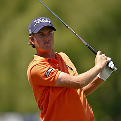 April 26, 2012; Avondale, LA, USA; Webb Simpson on the 9th hole during the first round of the Zurich Classic of New Orleans at TPC Louisiana. Mandatory Credit: Derick E. Hingle-US PRESSWIRE
