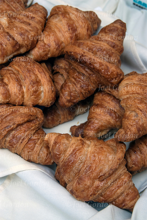 French Croissant desserts on outdoor table for the Bastille Day celebration in New York City.