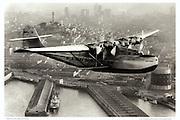 Pan Am China Clipper, aerial