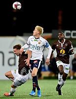 Fotball , 4. oktober 2019 , Eliteserien , Mjøndalen - Strømsgodset 1-1<br /> Jakob Glesnes , SIF<br /> Sondre Liseth , MIF<br /> Olivier Occean , MIF