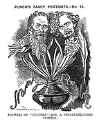 "Punch's Fancy Portraits.- No. 14. Flowers of ""Culture""; Or, A Swinburne-Jones Cutting."