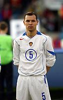 Fotball, 28. april 2004, Privatlandskamp, Norge-Russland 3-2, Sergei Ignashevitch, Russland, portrett