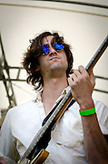 Wylie Gelber on bass for Dawes at the 2012 Appel Farm Arts & Music Festival.