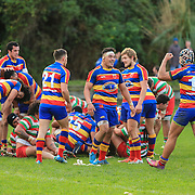 Rugby union game between Tawa Premier and Hutt Valley Old Boys (HOBM), played at Tawa, Wellington, New Zealand on 4 July 2015.  Game won 28-24 by Tawa.