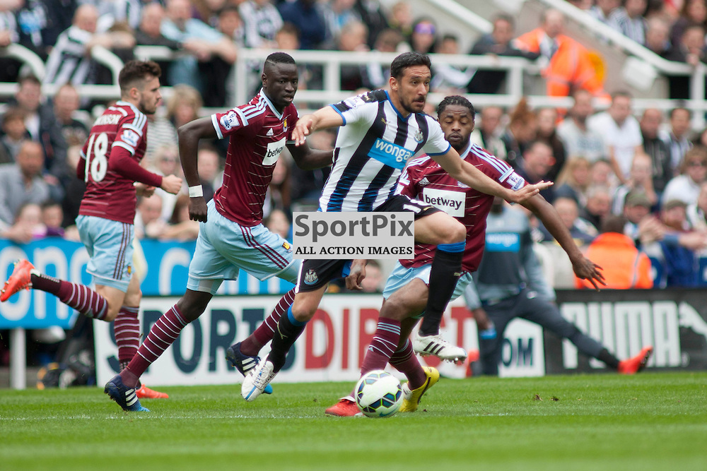 Jonas Gutierrez (Newcastle) in the Newcastle v West Ham, Barclays Premiership match at St James&rsquo; Park, Newcastle 24 May 2014<br />