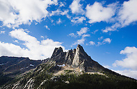 Liberty Bell mountain and Washington Pass area, North Cascades of Washington, USA.