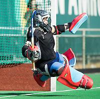 ROTTERDAM -    Goalie Toby Bruce (Eng)   Practice Match  Hockey : Netherlands Boys U16  v England U16 . COPYRIGHT KOEN SUYK