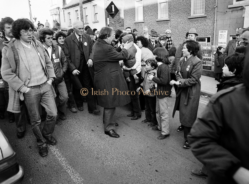 Charles Haughey campaigning in the Tullamore/Portlaoise constituency. <br />