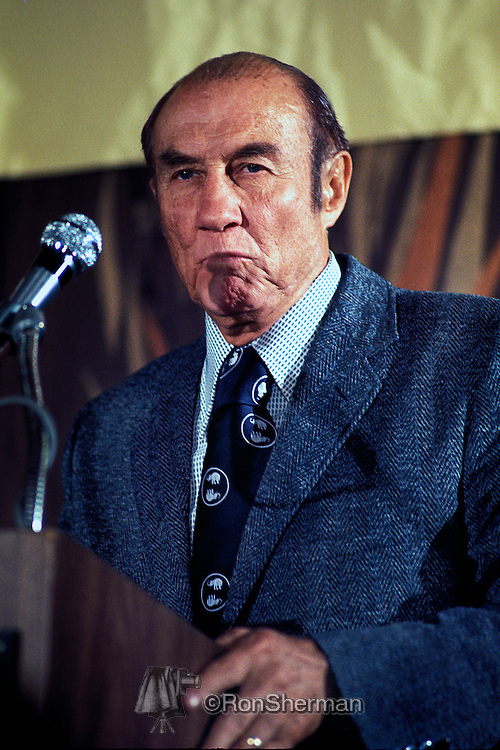 US Senator Strom Thurmond South Carolina speaks at the Southern Governor's Conference in Atlanta 1973.