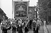 Maltby and Manton branch banners. 1990 Yorkshire Miner's Gala. Rotherham.