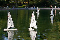 boating lake in central park in New York City in October 2008