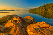 Sunrise at Smoke Lake, Algonquin Provincial Park, Ontario, Canada