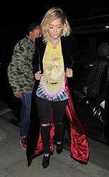 Rita Ora attends the JF London x Kyle De'Volle dinner at Beach Blanket Babylon in London,UK. 29/09/2016<br />BYLINE MUST READ : GOTCHAIMAGES.COM<br /><br />Copyright by © Gotcha Images Ltd. All rights reserved.<br />Usage of this image is conditional upon the acceptance <br />of Gotcha Images Ltd, terms and conditions available at<br />www.gotchaimages.com
