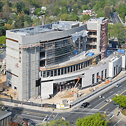 Aerial view of District Courthouse in Rockville MD.